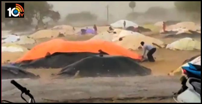 Unprecedented rains in ap and telangana, 7 people died with Thunderbolt