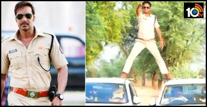 madhyapradesh cop pull off singham stunt during lockdown