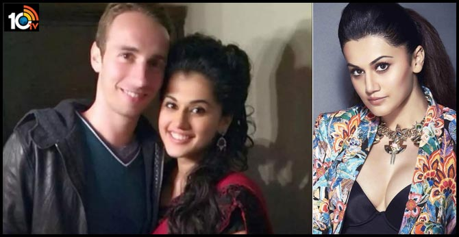 The film actress tapsi who introduced her boyfriend