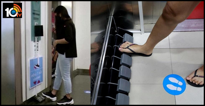 A Thailand Mall Has Swapped Buttons With Foot Pedals In Elevators, To Maintain Zero Contact