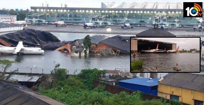 Amphan Cyclone hits Submerged Kolkata international Air Port