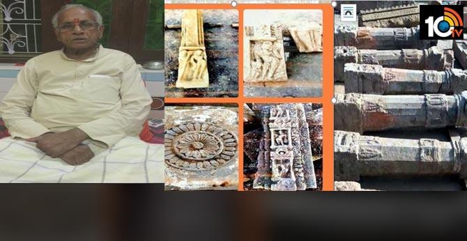 Ayodhya Ram Janmabhoomi..Five feet Shivaling, Broken Idols, Carved Pillars Discovered During Construction Work