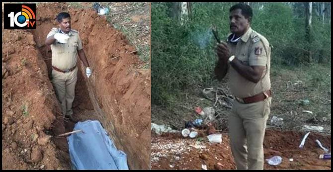Karnataka Cop Buries Man Killed By Elephant As Family Refuses Body