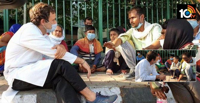 Rahul Gandhi Meet Migrant Workers In Delhi