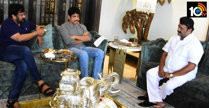 Talasani discusses Tollywood issues with Megastar Chiranjeevi