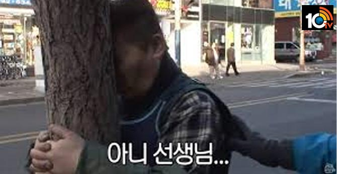 south korean man has been training by banging his head against a tree every day for five years