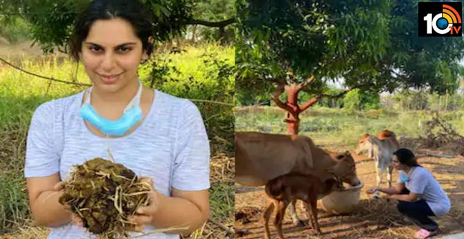 upasan konidela learning organic farming with his dad and photos viral in twitte