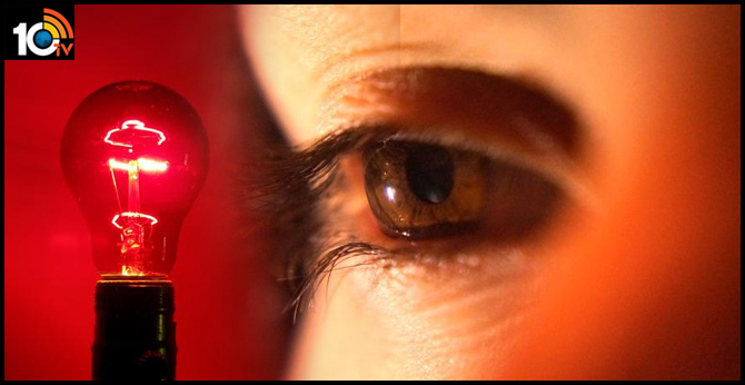 Declining eyesight improved by looking at deep red light