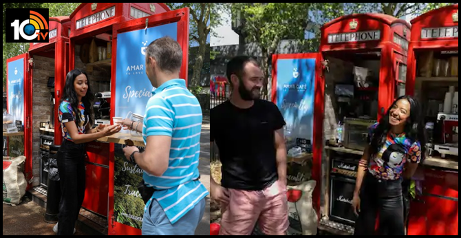 london phone boxes serve coffee as lockdown eases at  Corona lockdown Changes