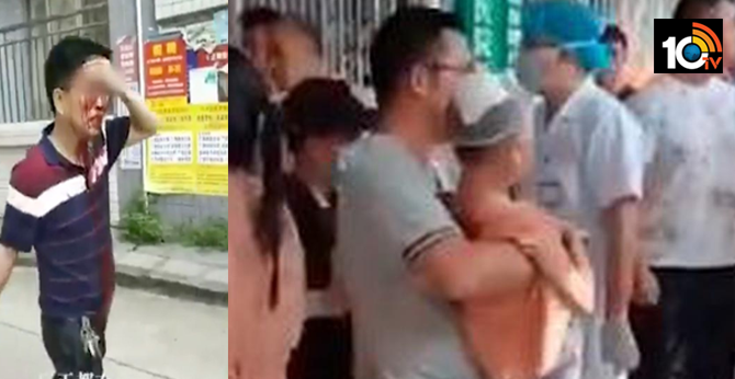 40 children and staff injured in knife attack on primary school in chian
