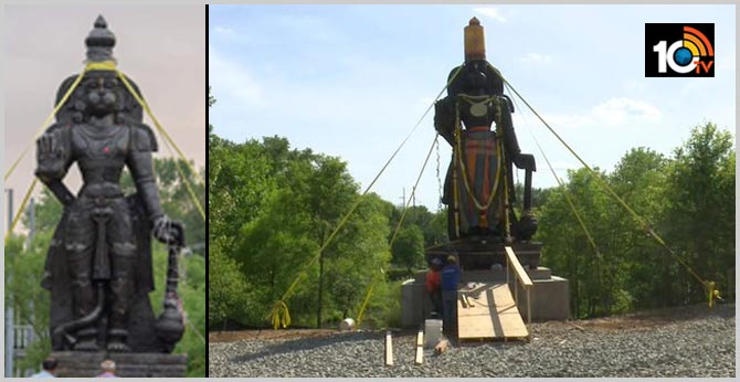 25 feet statue of lord Hanuman installed in Delaware