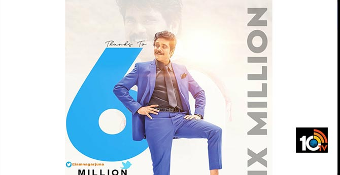 6 Million Twitter Followers For King Nagarjuna