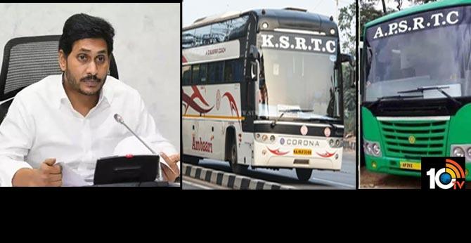 APSRTC resumes bus services to karnataka