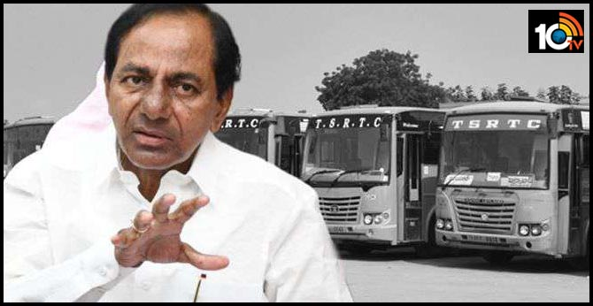 CM KCR on review meeting on TSRTC