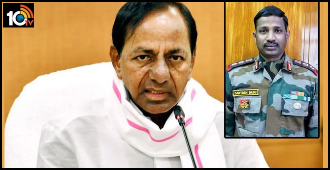 CM KCR shocked to the death of Colonel Santosh Babu