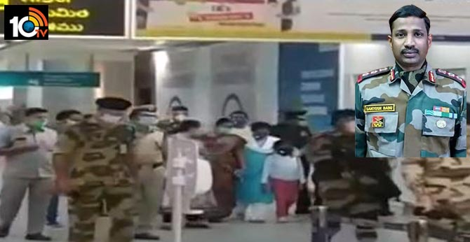 Dead body of martyr Colonel Santosh Babu to be arrived soon to Hakimpet