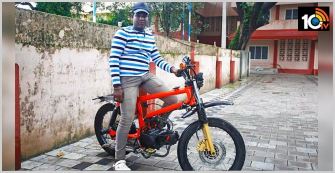 Kerala Student converts his bicycle into motor bike during lockdown time