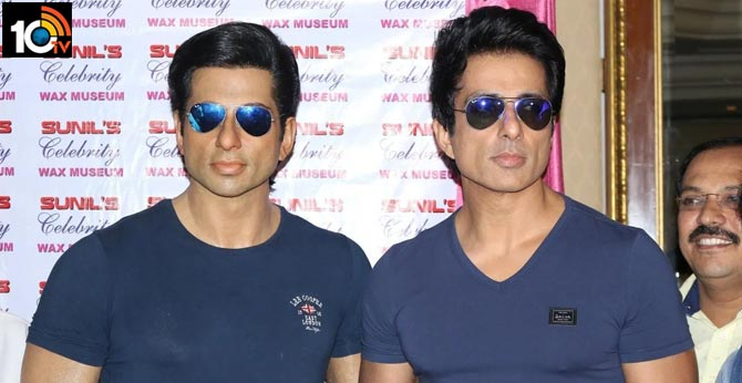 bollywood actor sonu sood wax statue unveiled