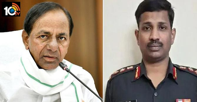 cm kcr to visit colonel santosh babu family