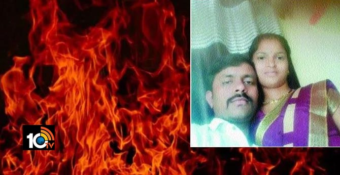 man attempts suicide by jumping into burning pyre of wife later ends life in well