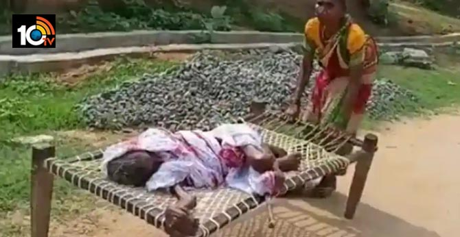 odisha woman drags 100-yr-old mother