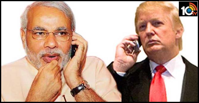 pm Modi, america president Trump phone conversation