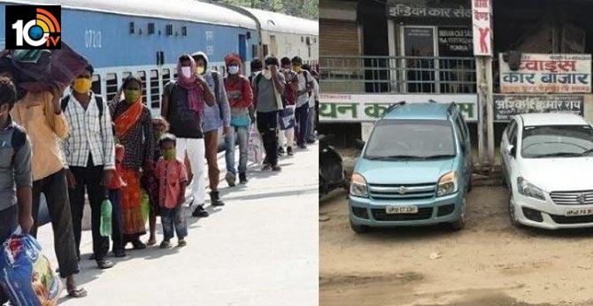 up man fails to get seat on shramik train uses savings to buy car to return home in gorakhpur