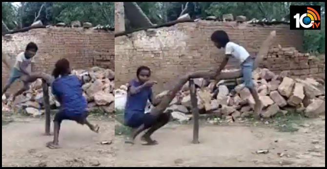 This Video Of Kids Playing On A Makeshift See-Saw In Madhya Pradesh Will Make Your Day