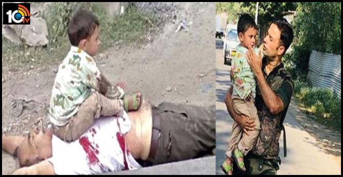 Jawan rescued a 3 year old boy from getting hit by bullets during the terrorist attack in sopore