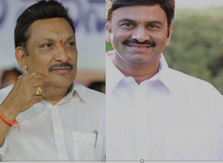 ysrcp mla Gandhi Srinivas police complains on Mp raghurama krishnam raju