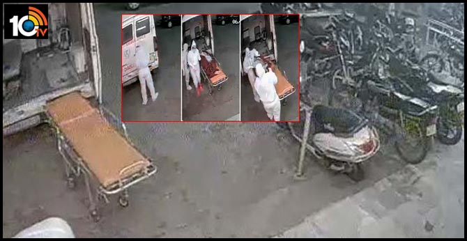 COVID-19 Patient's Body Dumped Outside Bhopal Hospital. Shocker On CCTV