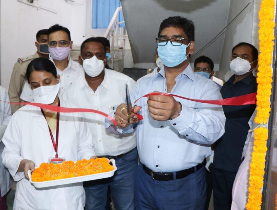 Jharkhand CM Hemant Soren inaugurates Plasma Donation Centre for seriously ill RIMS