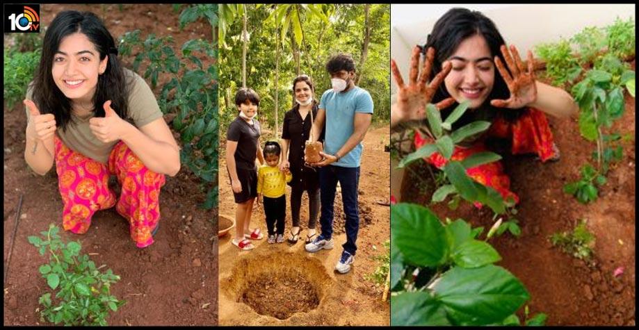 actress-rashmika-and-director-sampath-nandi-plant-sapling-under-green-india-challenge1
