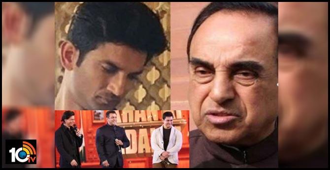 mp-subramanian-swamy-slams-bollywood-khans-silent-on-so-called-suicide-of-sushant-rajput