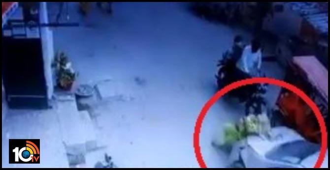 A car ran over a woman near Chilla Village in Delhi yesterday