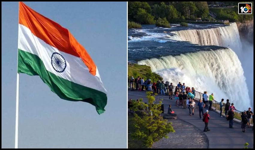 for-the-first-time-ever-indian-tricolour-to-be-hoisted-at-niagara-falls-in-canada-on-august-15