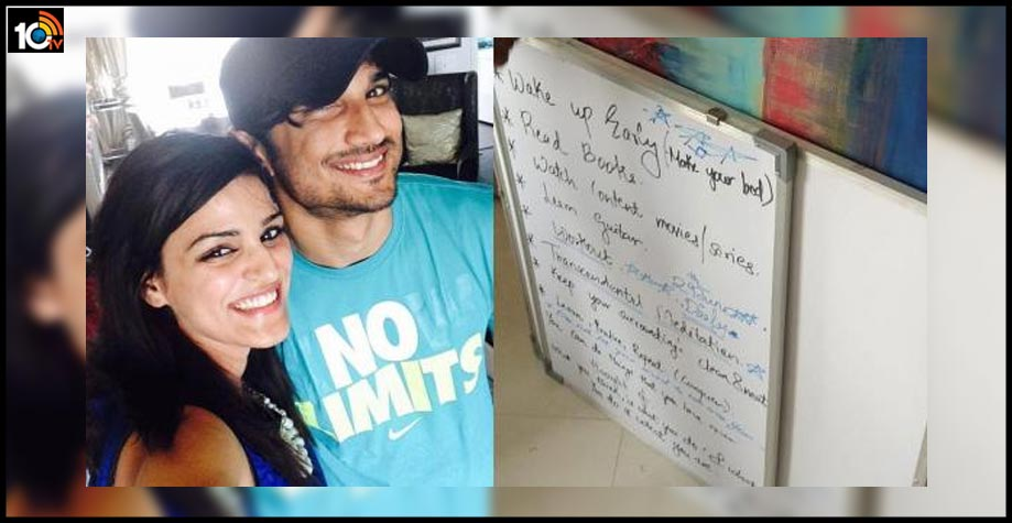 sushant-singh-rajputs-sister-shweta-shares-whiteboard-with-the-actors-plan