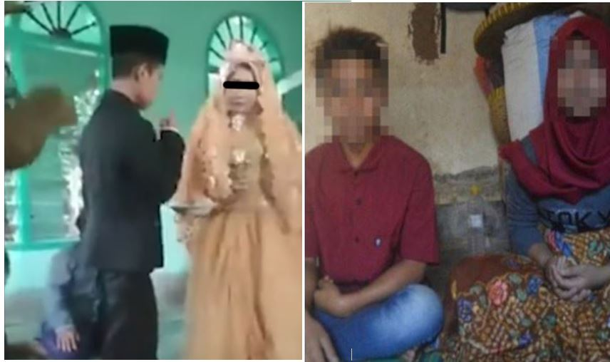 underage couple forced to marry after dating after sunset in indonesia .. ancient tradition