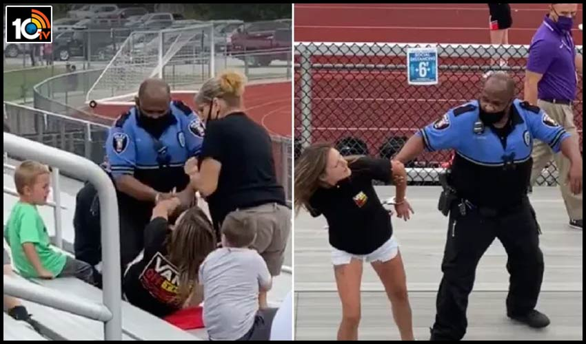 america-police-tased-and-arrested-a-woman-refusing-to-wear-a-mask-at-a-middle-school-football-game
