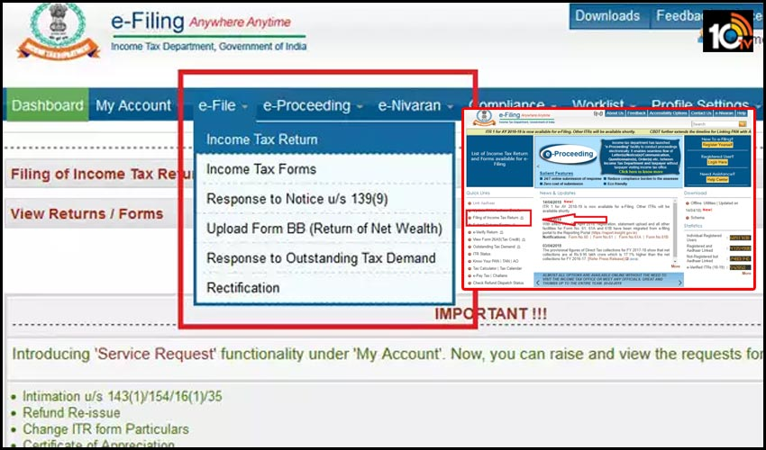 itr e filing know how to e file your income tax return 1