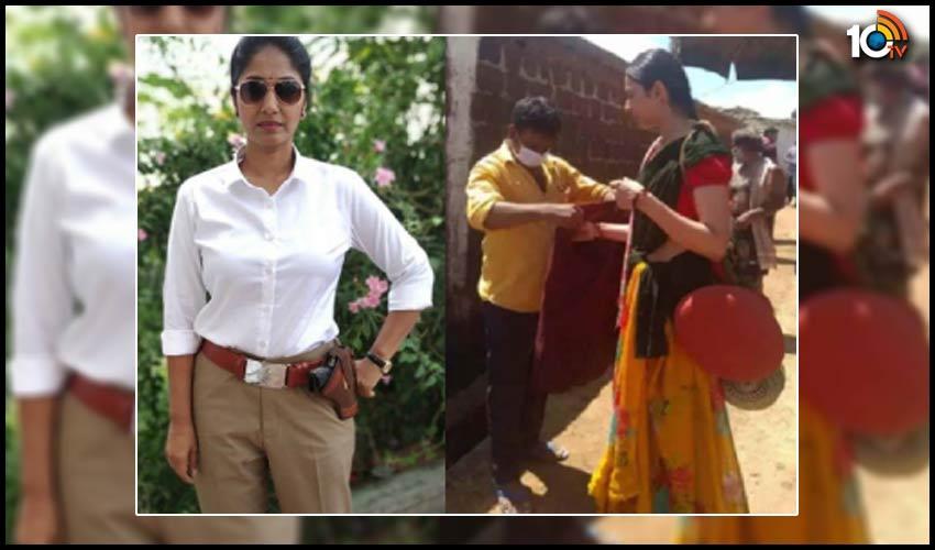 jhansi-in-police-attaire-rakul-preet-in-vikarabad