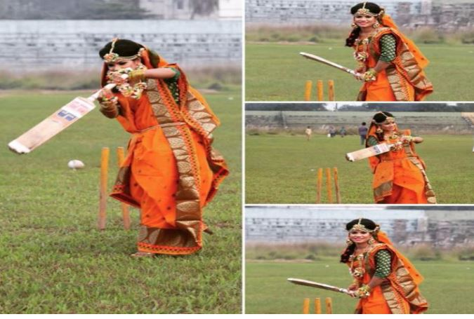 Bangladesh woman cricketer sanjida islam with bride getup