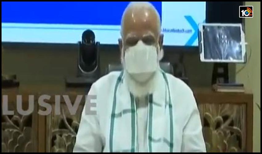 భారత్ బయోటెక్ లో ప్రధాని మోడీ…కరోనా వ్యాక్సిన్ తయారీ, పురోగతిపై సమీక్ష