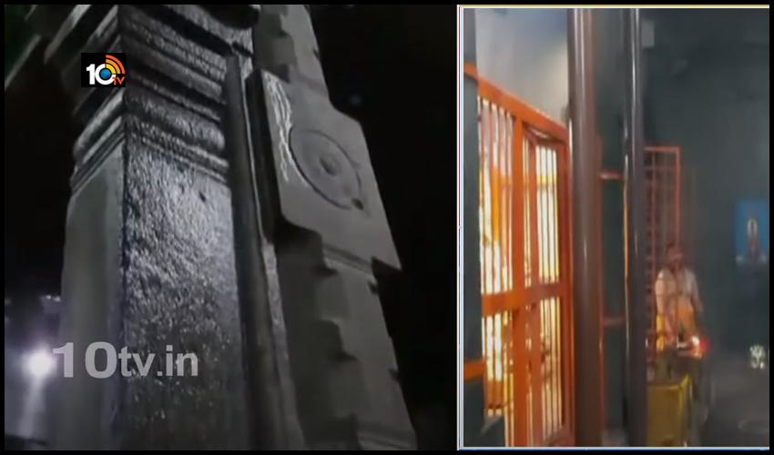 10టివి ఎఫెక్ట్ : శ్రీకాళహస్తి ముక్కంటి ఆలయంలో మరమ్మత్తులు