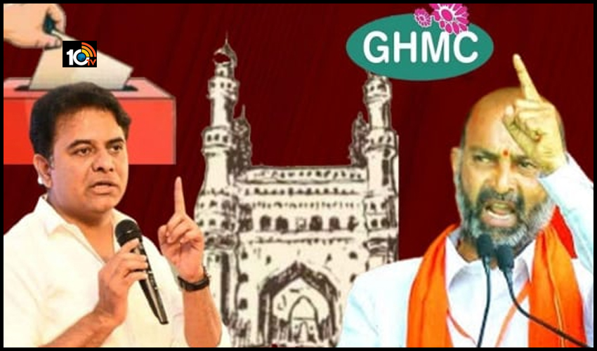 గ్రేటర్ ఎన్నికలు : TRS Vs BJP డైలాగ్ వార్