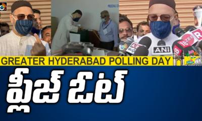 aimim-chief-asaduddin-owaisi-casts-his-vote-at-sastripuram