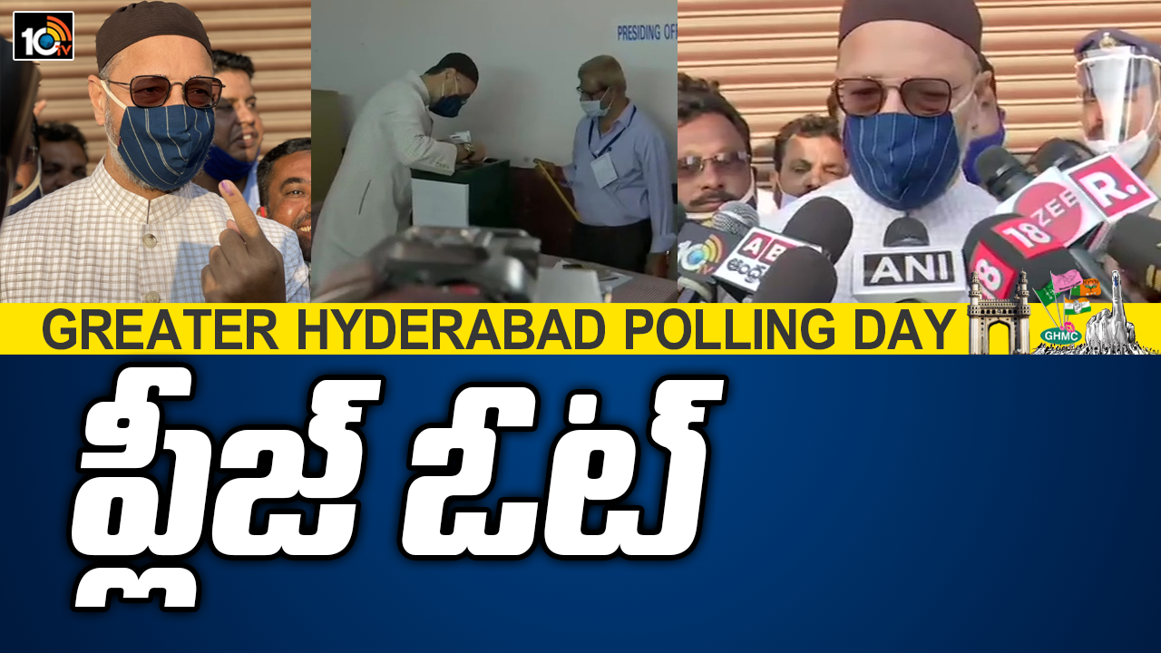 aimim-chief-asaduddin-owaisi-casts-his-vote-at-sastripuram