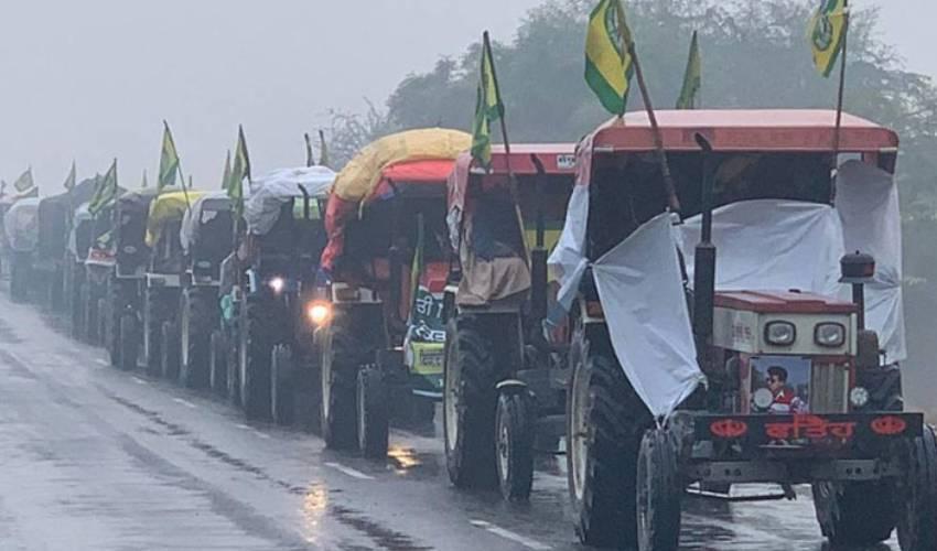 Delhi police deny permission for farmers' tractor parade