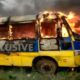fire broke out, Three school buses burnt