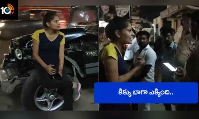 Drunk Woman In Mahindra Thar